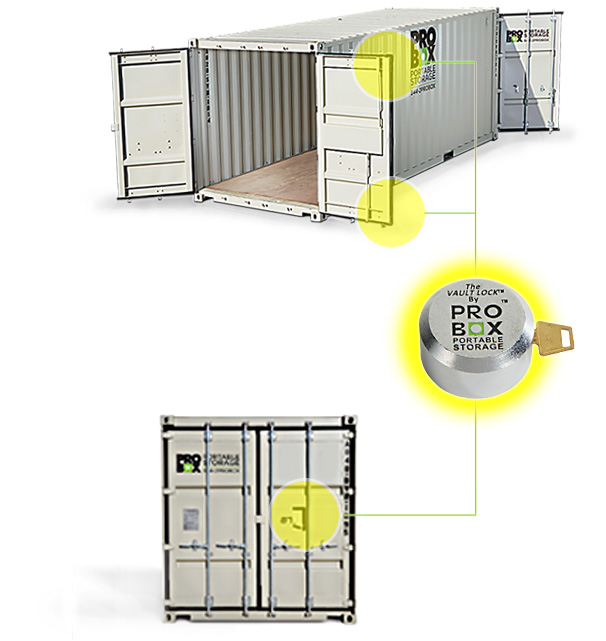 High security storage containers